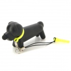 Cute Dog Design kapazitiver Touch Pen Stylus w / Anti-Staub Stecker + Strap - Schwarz + Gelb