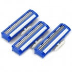 RIMEI 2310 Universal 2-Blade Shaver Blades - Blue + Silver + White (3 PCS)
