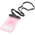 Naturehike-NH FSD0001 Waterproof Protective ABS + PVC Case for Touch Screen Cellphone - Pink + Black