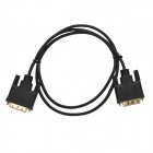 Dual DVI Male to DVI Male Video 24+1 Cable - Black (100 CM)