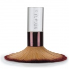 MEGAGA Multifunction Makeup Crystal Handle Fiber Powder Brush - Brown + Purplish Red + Transparent
