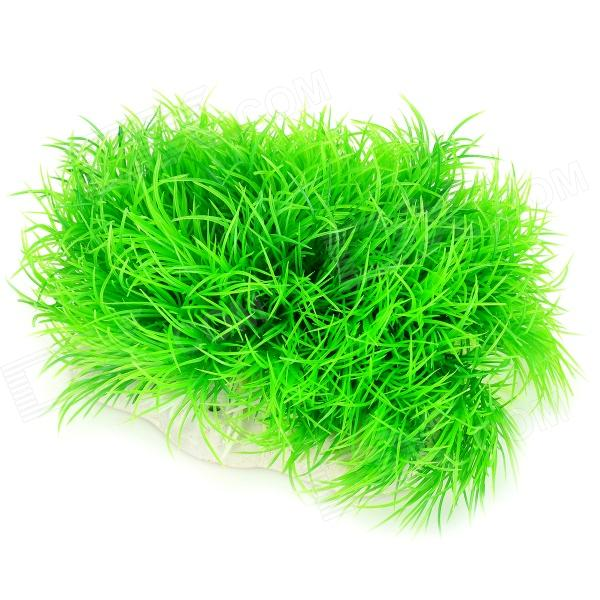 Fish Tank Decoration Grass Hillside - Green