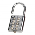 Fashion Stainless Steel Number Code Lock - Silver