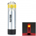 GLO-TOOB Outdoor Sport Waterproof 3-Mode Orange Light Lamp - Black + Translucent + Yellow (1 x AAA)