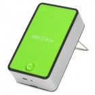Mini Handheld USB Rechargeable Air Conditioner Fan - Green + Black + Silver