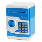 Mini 4-digit PIN Combination Safe Coin Bank - Blue + White (3 x AA)