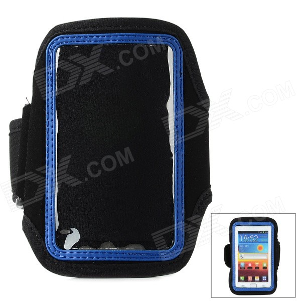 Fashion Sports Gym Arm Band Case for Samsung Galaxy S4 Mini / i9190 - Blue + Black sunshine sports velcro protective arm bag for samsung galaxy s5 i9600 red black