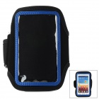 Fashion Sports Gym Arm Band Case for Samsung Galaxy S4 Mini / i9190 - Blue + Black