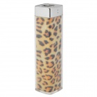 Lipstick Style Mini Portable 3.7V 2000mAh Li-ion Battery Power Bank for Iphone 4S - Leopard