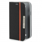 NILLKIN Protective PU Leather FLip Open Case for Samsung I879 - Black