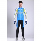 17K K02004 Long Sleeve Cycling Bicycle Riding Suit Jersey + Pants Set for Men (Size 2XL)