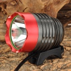 UltraFire Cree XM-L U2 600lm 3-Mode White Bicycle Headlamp - Grey + Red (4 x 18650)