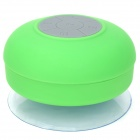 BTS-06 Waterproof Bluetooth Hands-free Speaker w/ Microphone / Suction Cup for Iphone 5 - Green