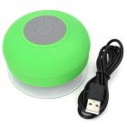 Waterproof Bluetooth Hands-free Speaker w/ Microphone / Suction Cup for Iphone 5 - Green
