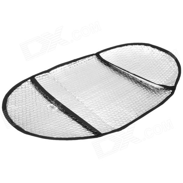 Motorcycle Sun Shading Heat Insulation Saddle Seat Cushion Pad - Silver