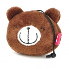 Cartoon Cute Bear Style Cleaning Doll w/ Anti-dust Plug for Iphone + More - Brown + Black + White