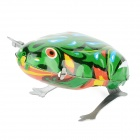 Funny Wind Up Jumping Frog Toy - Green