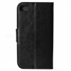 Protective PU Leather Case w/ Stand for IPHONE 4 / 4S - Black