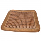 Retro Square Shaped Car Seat Bamboo Mat Cushion - Brown