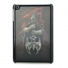 3D Skull Soldier Pattern Protective Plastic Back Case for iPad Mini - Black