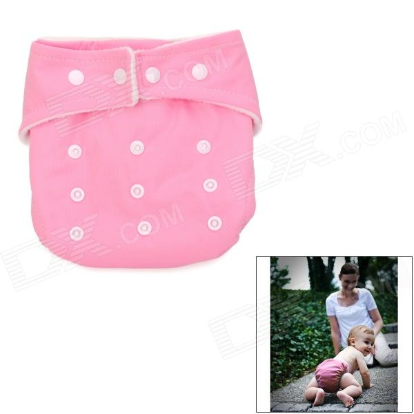Adjustable Waterproof Baby Cloth Diaper - Pink
