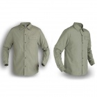 Naturehike GS01-M Quick-drying Men's Polyester Shirt w/ Removable Sleeves - Light Green (Size XL)