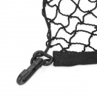 Car Trunk Elastic PE + Rubber Storage String Mesh Bag - Black