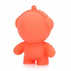 V92 Portable Mini Cute Doll Style Audio Music Speaker - Red