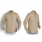 Naturehike GS01-M Outdoor Quick-drying Men's Polyester Shirt w/ Removable Sleeves - Camel (Size XL)