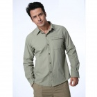 Naturehike GS01-M Quick-drying Men's Polyester Shirt w/ Removable Sleeves - Light Green (Size L)