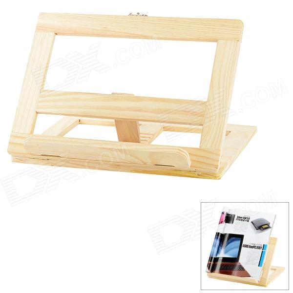 Folding Wood Stand Holder for Notebook - Brown