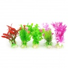E5XY Aquarium Dekoration Wasser Grass - Grün + Lila + Wine Red + White (10 PCS)