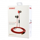 SOMiC MH410i Stylish In-Ear Earphones w/ Microphone - White + Red (3.5mm Plug / 120cm-Cable)