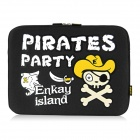 "ENKAY ENK-2101 Pirate Pattern Anti-Shock Sponge Sleeve for 13"" /13.3""  Laptop - Black"