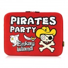 "ENKAY ENK-2101 Pirate Pattern Anti-Shock Sponge Sleeve for 13""/13.3""  Laptop - Red"