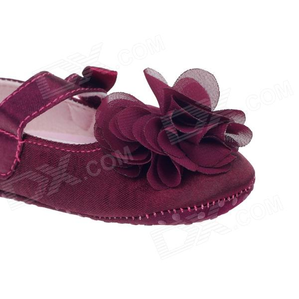 Lovely Flower Velcro Baby Shoes Deep Purple 3 6 Months