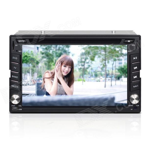 Joyous J-2612MX 6.2 Inch Two Din Radio w/ DVD,GPS, ISDB-T, IPOD, Bluetooth, AUX, USB / SD автомобильный dvd плеер joyous kd 7 800 480 2 din 4 4 gps navi toyota rav4 4 4 dvd dual core rds wifi 3g