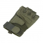 Stylish Outdoor Half Finger Gloves - Army Green ( Size XL / Pair)