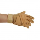 Stylish Outdoor Full  Finger Gloves - Coyote Tan ( Size L / Pair)