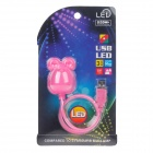 3W 100lm 6000K White Light Cartoon Mouse Style Flexible Neck USB Light - Pink