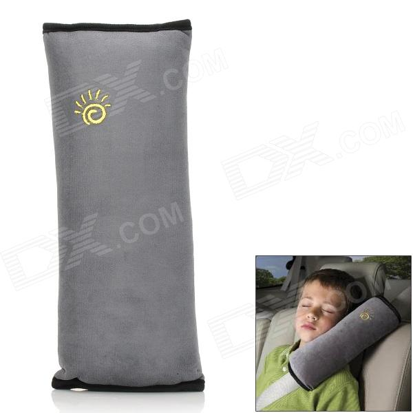 027 Car Safety Seat Belt Shoulder Pad Pillow for Children - Grey + Black