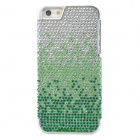 Protective Rhinestone + PVC Shining Back Case for Iphone 5 - Green + Silver