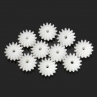 DIY Plastic Wheel Gear for Car Model - White (10PCS)