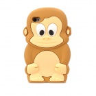 Cute Cartoon Monkey Style Protective Silicone Back Case for Iphone 4 - Brown + Beige