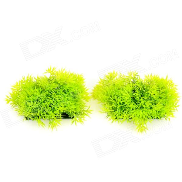 E5LH 8843 Aquarium Fish Tank Decoration Water Grass - Green + Black (2 PCS)