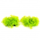 Aquarium Fish Tank Decoration Water Grass - Green + Black (2 PCS)
