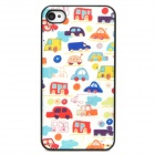 Shining Mini Cars Style Protective Plastic Back Case for Iphone 4 / 4S - Multicolor