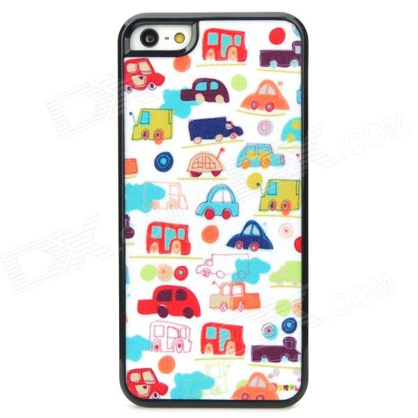 Shining Mini Cars Style Protective Plastic Back Case for Iphone 5 - Multicolor water drops style protective plastic back case for iphone 4 blue