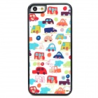 Shining Mini Cars Style Protective Plastic Back Case for Iphone 5 - Multicolor