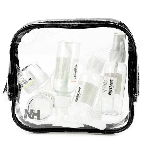 Naturehike NHXSB04-2 Travel PVC + PET Cosmetic Separate Storage Bottles Set - Transparent 2 bottles x 90 pieces bottle black maca powder extracts 100